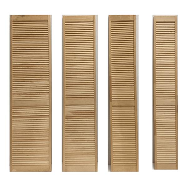 puerta de persiana de pino
