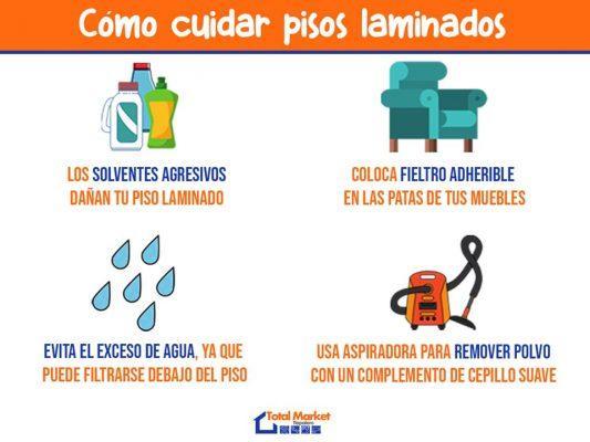 como cuidar pisos laminados de la humedad