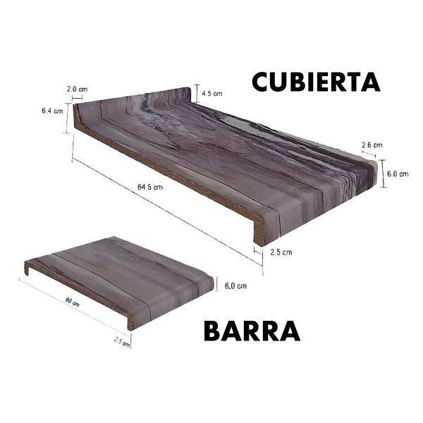 cubierta barra cocina medidas