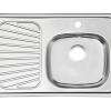 fregadero metalico para cocina