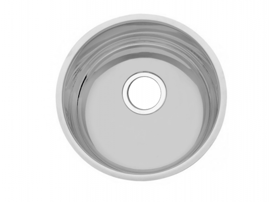 fregadero tarja satinado circular de acero inoxidable